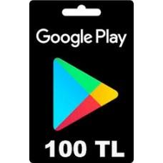 Google Play hediye kartı - 100 TL
