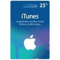 iTunes hediye kartı - 25 TL